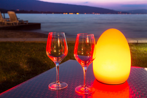 Colorful LED Egg Bar Table Light