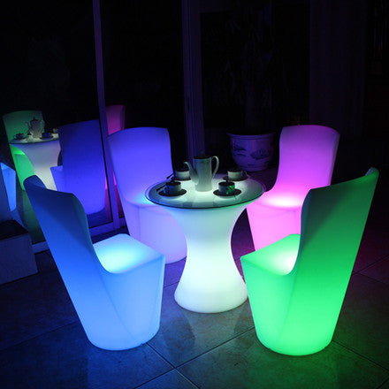 Glowing Led Seat Plastic Chair Lu Qing Wen