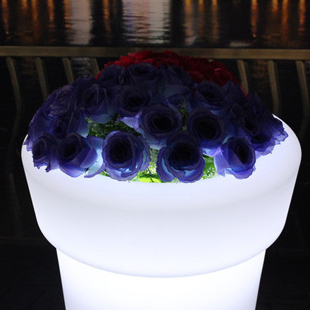 high tower round led flower pot view