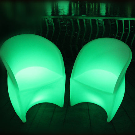 Illuminated LED Armrest Backrest Chair