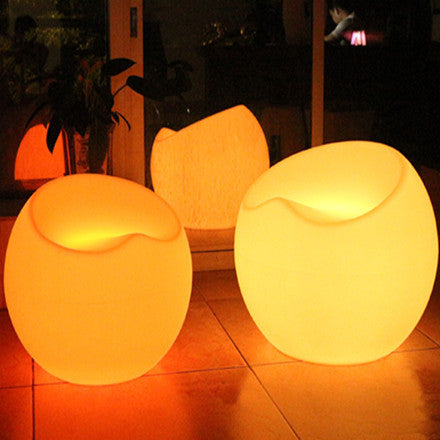 led apple lounge chair yellow