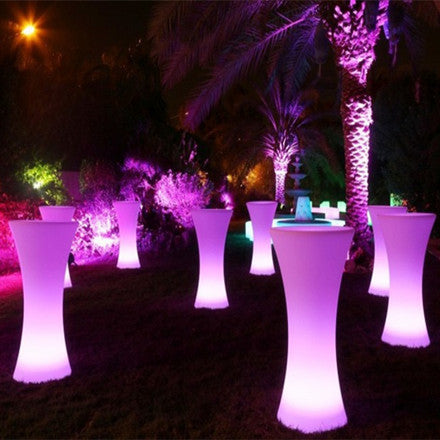 Remote Control Ball >> LED Illuminated Cocktail Table For Party & Event Hire – LU QING WEN