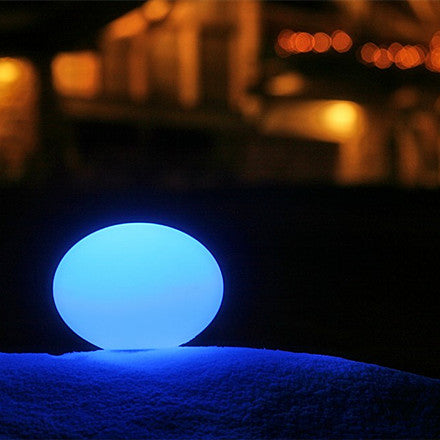 led luminous flat ball blue