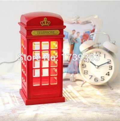LED Telephone Booth Nightlights Perfect For Night Kids Rooms