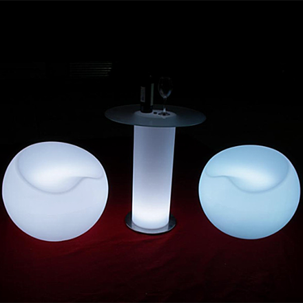 glowing cocktail table