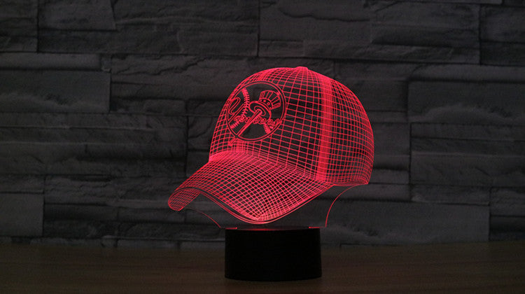 New York Yankees Baseball Team Cap 3d Light Hat Nightlight Led Desk