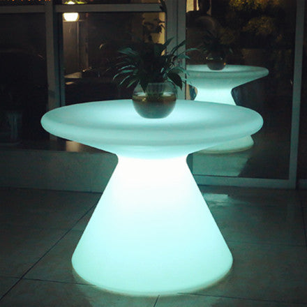 Best One Leg Round Plastic Led Coffee Table For Sale Lu