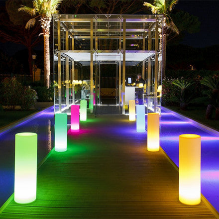 outdoor round led floor light show