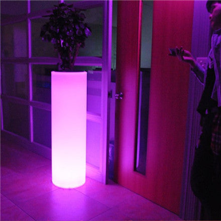 plastic decorative led flower pot