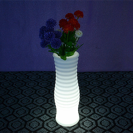 plastic wavy tower led flower pot