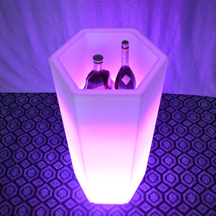 Rechargeable Hexagonal LED Ice Bucket
