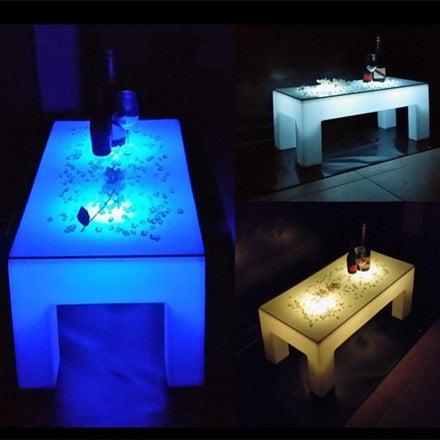 rechargeable led luminous coffee table
