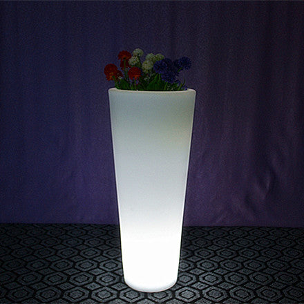 rechargeable round tower led flower pot
