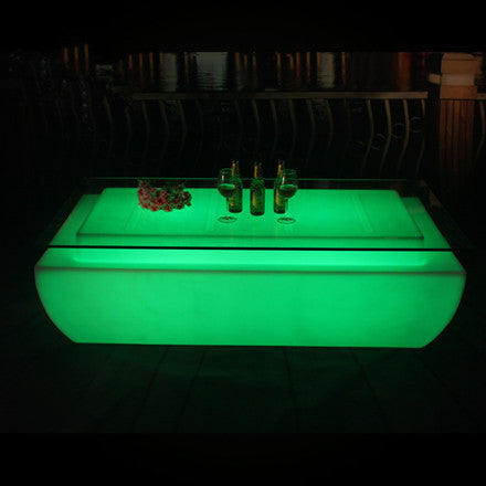 Rectangular LED bar table