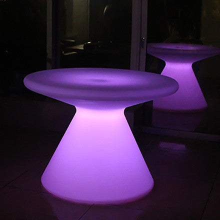Coffee Table One Leg Round Led Table