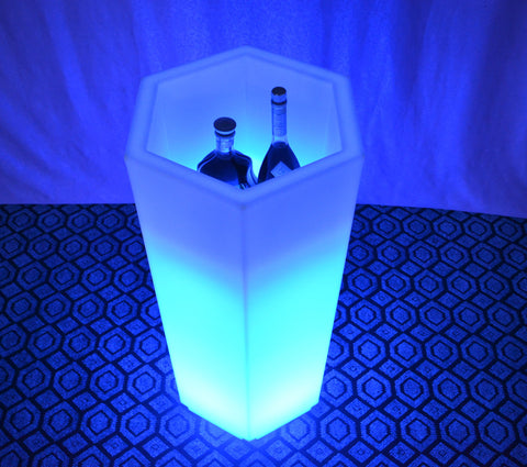 H105 Stand Wine Cabinets Cooler LED Ice Bucket