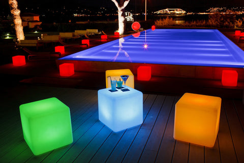 led light cube chair