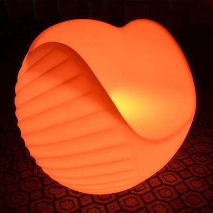 sphere lounge sofa led chair orange