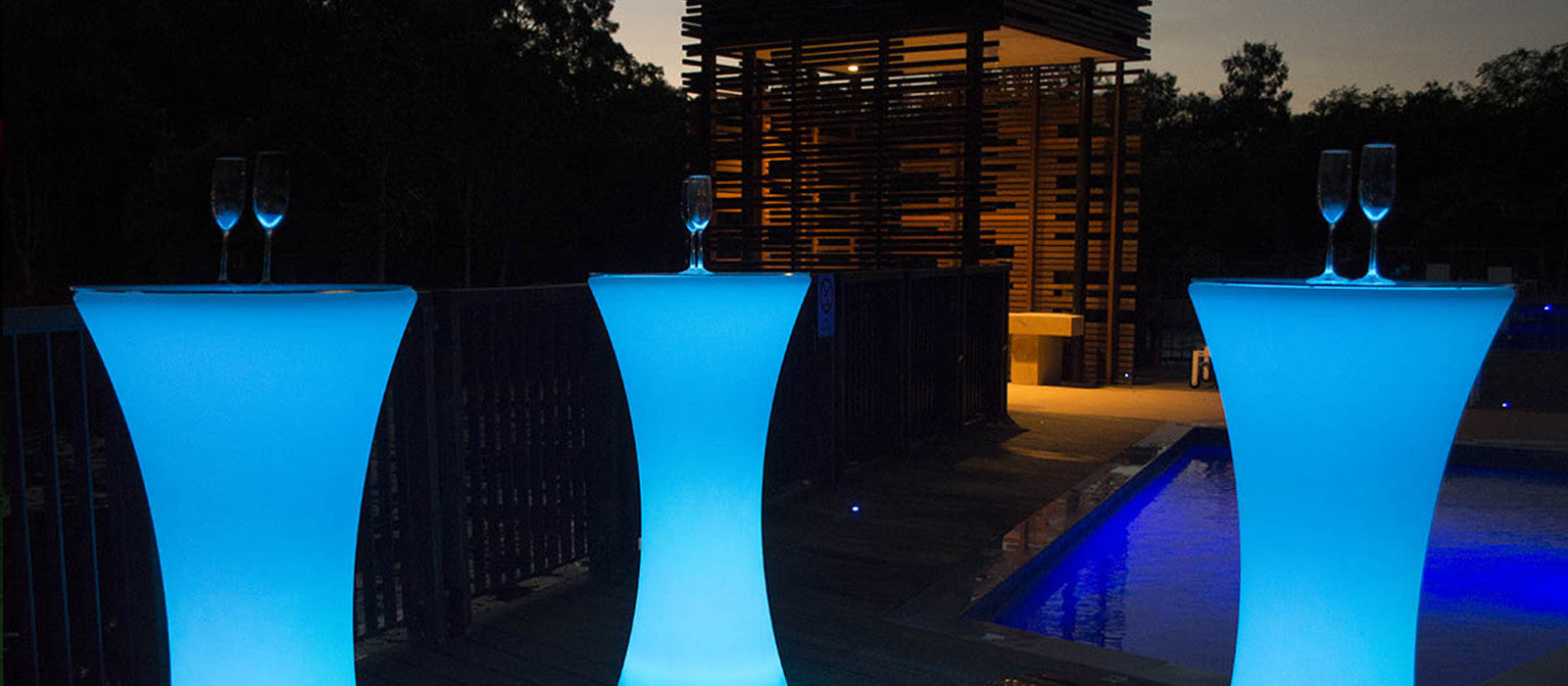 LED Light Cocktail Table