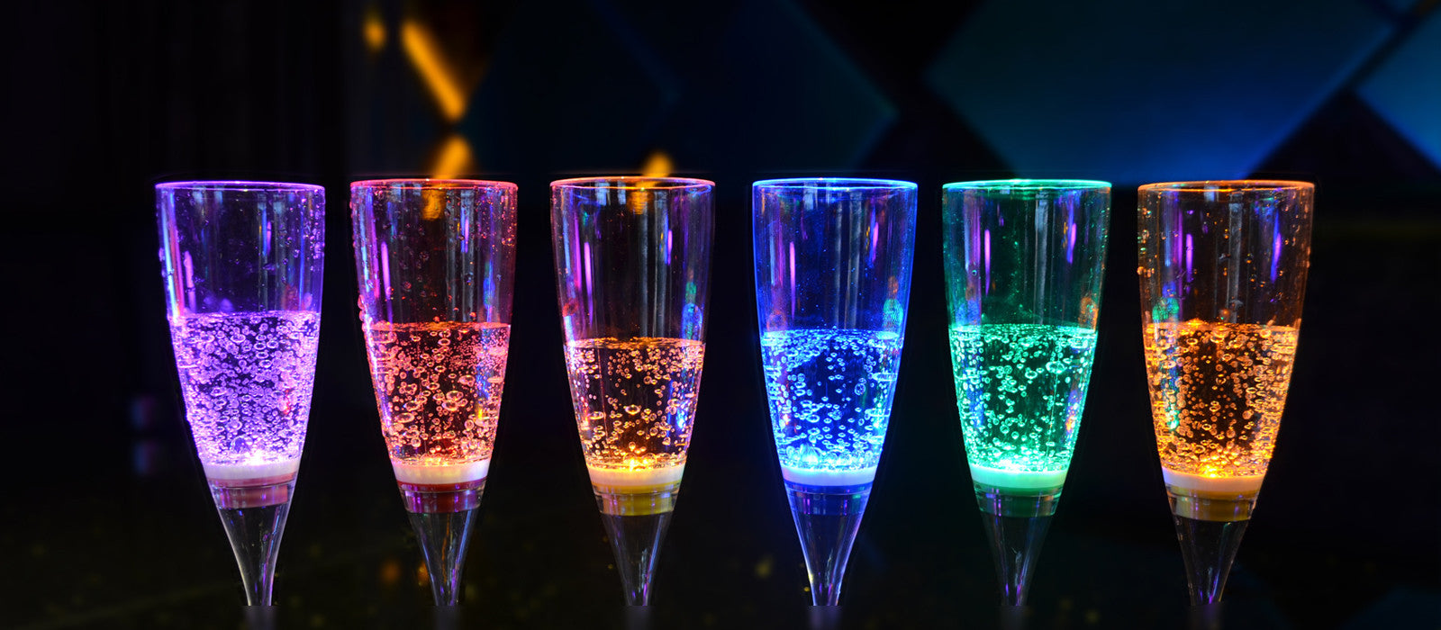 Inductive LED Champagne Glass
