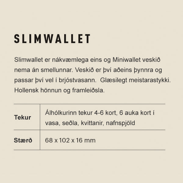 Secrid Slimwallet - Vintage Grey Black