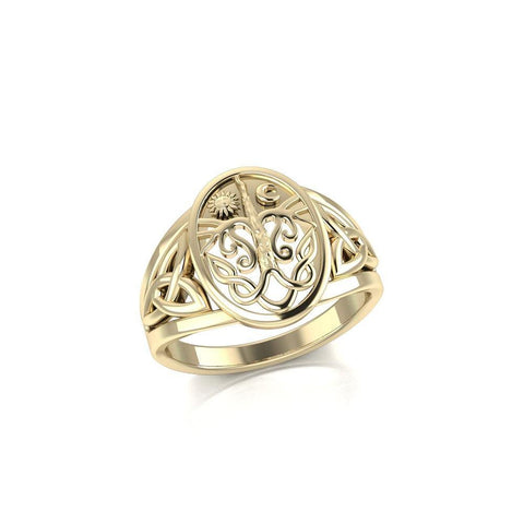 Tree of Life Solid Gold Ring GTR3688