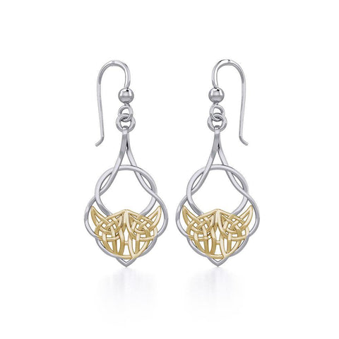 Celtic Knot Silver and Gold Vermeil Earrings MER1901