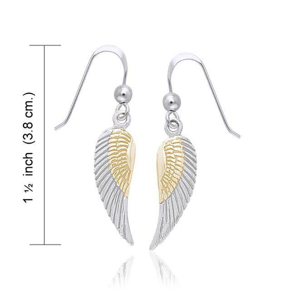 Angel Wing Silver and Gold Earrings MER927