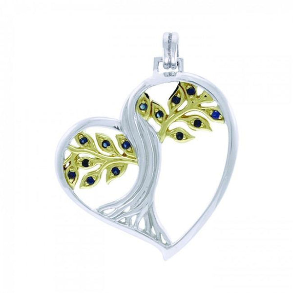 Tree of Life Silver and Gold Pendant MPD3880