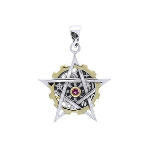 Pentacle Steampunk Silver and Gold Accent MPD3924