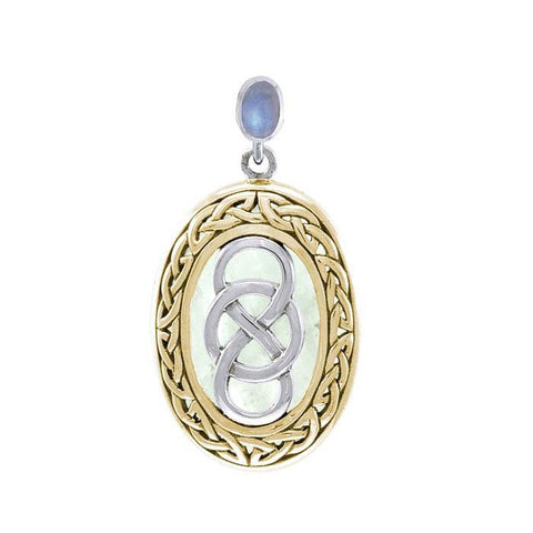 Celtic Infinity Binding Spell Silver and Gold Pendant MPD4746