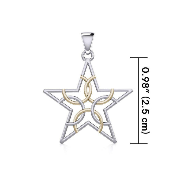 The Fifth Circle with Star Silver and Gold Pendant MPD5264