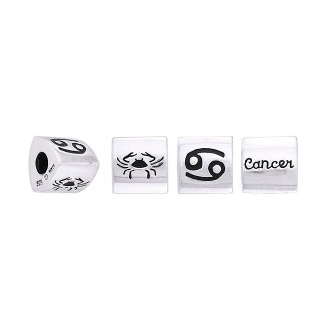 Triangle Cancer Zodiac Silver Bead TBD100