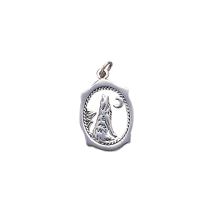 Howling Wolf Silver Charm TC429