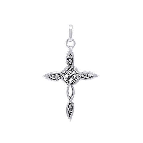 Fantastic Celtic Cross Silver Charm TCM678