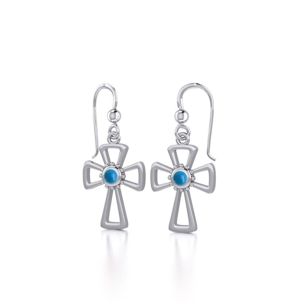 TE1150 Silver Cross EarringsTQ