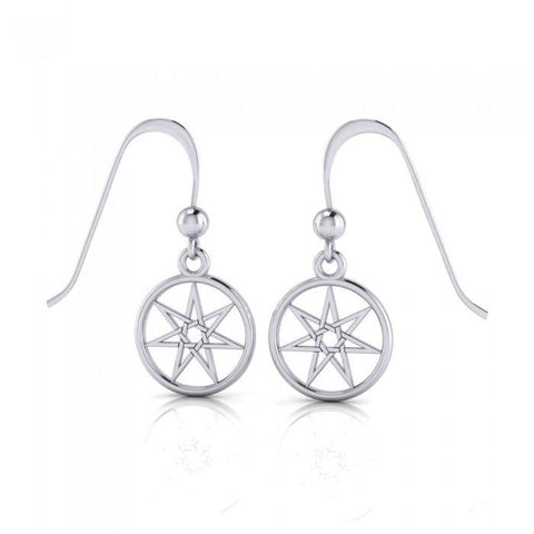 Elven Star Silver Dangle Earrings TE2807