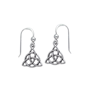 Triquetra Silver Earrings TE2912