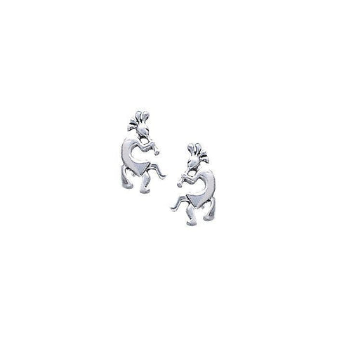 Kokopelli Silver Earrings TE510
