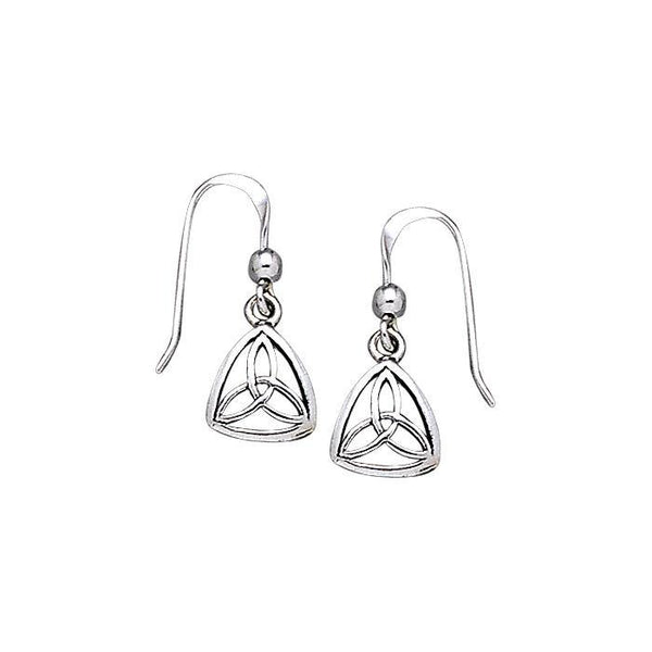 Celtic Knotwork Silver Triquetra Earrings TE745