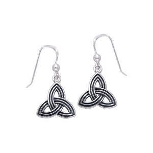 Celtic Knotwork Silver Triquetra Earrings TER131