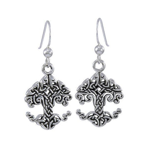 Cari Buziak Celtic Knotwork Tree of Life Silver Earring TER1534