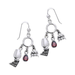 Aquarius Silver Astrology Earrings TER882
