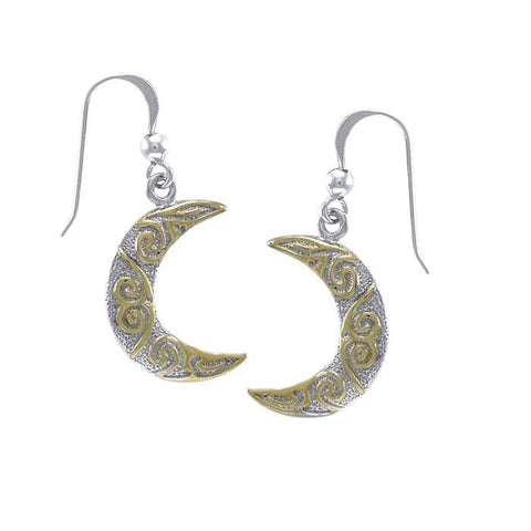 Celtic Spiral Gold Accent Silver Earrings TEV2915