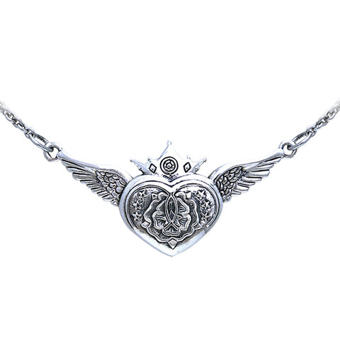 Celtic Heart of the Magdalene Silver Necklace TNC062