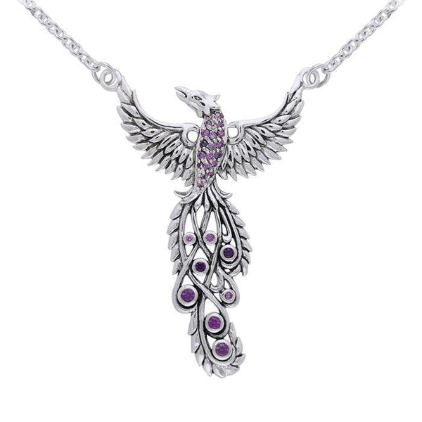 Rising Phoenix Silver Necklace