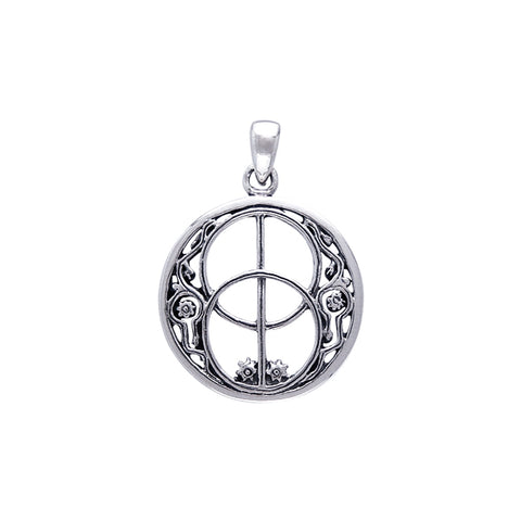 Silver Chalice Well Pendant TP3278