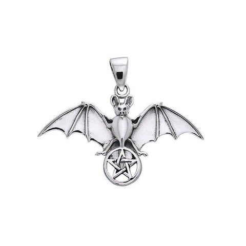 Bat and Star Silver Pendant TPD1078