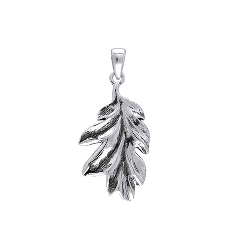 Magick & Witch Oak Leaves Silver Pendant TPD131