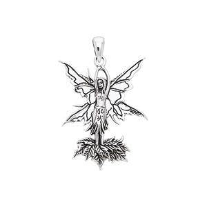 Amy Brown Autumn Leaf Fairy Pendant TPD1649